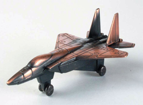 F-15 Military Jet Bronze Metal Pencil Sharpener