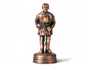 Standing Fireman Bronze Pencil Sharpener