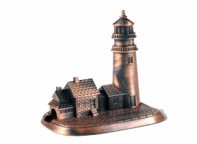 Lighthouse Bronze Metal Pencil Sharpener