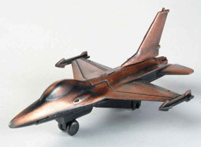 F-16 Bronze Metal Pencil Sharpener