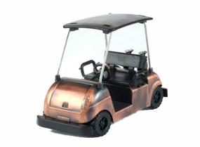 Golf Cart Bronze Metal Pencil Sharpener