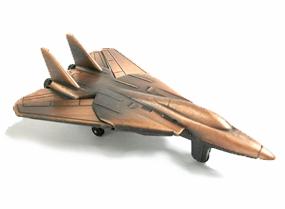F-14 Tomcat Military Jet Plane Bronze Pencil Sharpener