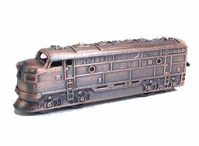 F-7 Diesel Style Locomotive Die Cast Antique Bronze Finish Pencil Sharpener
